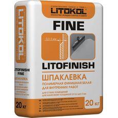 кл LITOFINISH FINE - шпатлевка финишная супербелая  20 кг