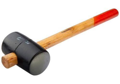 Киянка резиновая 340г черная резина, деревянная ручка SPARTA