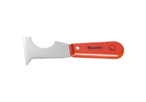 Шпатель-скребок стальной, пластмасовая ручка